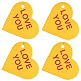 Set of Four Conversation Hearts Air Fresheners, Fresh Sheets, Love You