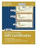 Adams Gift Certificates, Laser/Inkjet Compatible, 3-Up, 30 per Pack with Envelopes (GFTLZ)