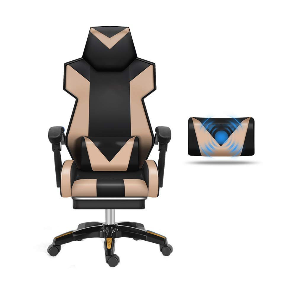 【待望★】 回転チェア feet 賭博の椅子 feet)、マッサージの腰椎サポートが付いている背中の調節可能なPUの革張りの椅子の望遠鏡の足台の競争の椅子 (色 : Nylon Nylon feet) Nylon feet B07QM88JP1, ゲオモバイル:acd2acd9 --- turtleskin-eu.access.secure-ssl-servers.info