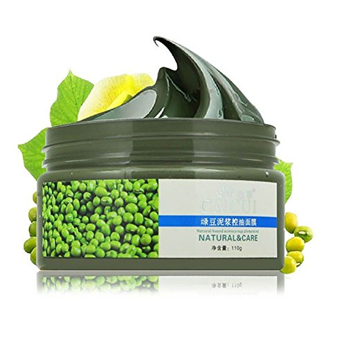 Shouhengda Facial Mask Mung Bean Seaweed Face Mask for Shrink Pore & Acne Treatment & Oil-control & Blackhead Remover