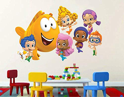- Bubble Guppies mermaid fish puppy 3D Window View Decal Graphic WALL STICKER Art Mural 18