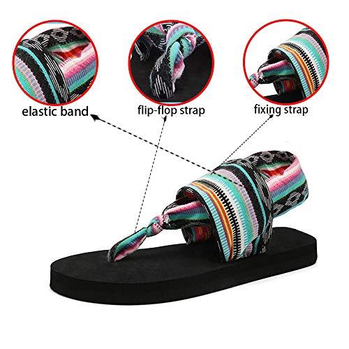 b89c580387657 SOSUSHOE Womens Yoga Sling Flip Flop Flats Sandals