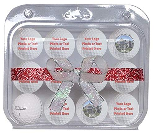 Titleist 1Dozen Pro V1 Custom Logo Refinished Mint Golf Balls with Christmas Packaging. ()