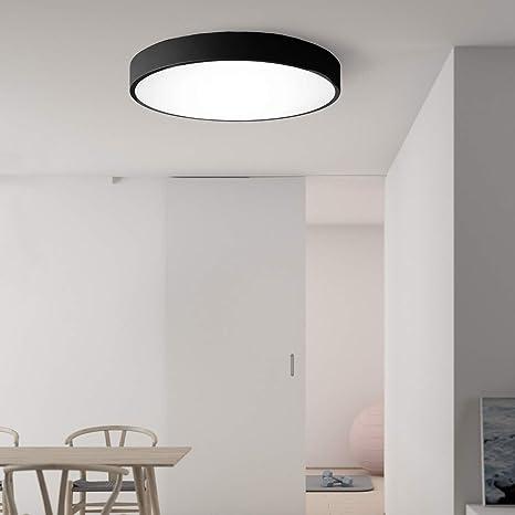 Decken Beleuchtung LED Design Wohn Schlaf Zimmer Lampe dimmbar rund silber 60 cm