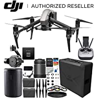 DJI Inspire 2 Quadcopter with CinemaDNG and Apple ProRes Licenses with 24mm f/2.8 ASPH LS Lens & Zenmuse X7 Camera and 3-Axis Gimbal Bundle