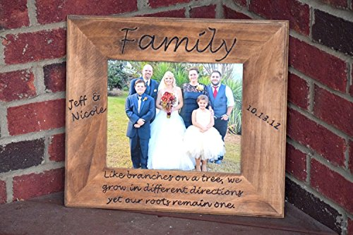 Picture Frame - Rustic Picture Frame - Personalized Picture Frame - Family Picture Frame Gift - Newly Wed Gift - Parents Wedding Frame