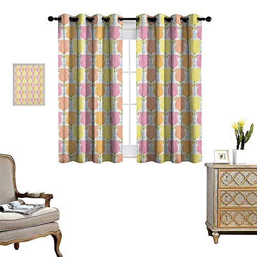 Tulip Blackout Window Curtain Colorful Lined Up Showy Tulip Shapes Perfect Love Symbol Mother Earth Icons Graphic Work Customized Curtains W63 x L72 Multi (Tulip Brocade)
