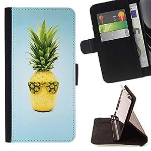 For Sony Xperia Z2 D6502 Case , Weed Cannabis Geniales Surf Blue- la tarjeta de Crédito Slots PU Funda de cuero Monedero caso cubierta de piel