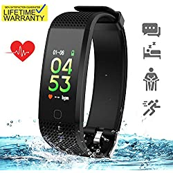 Updated 2019 Version Fitness Tracker HR, Activity Trackers Health Exercise Watch with Heart Rate Blood Pressure Sleep Monitor, Smart Band Calorie Step Counter, Pedometer Walking for Women Men Kids