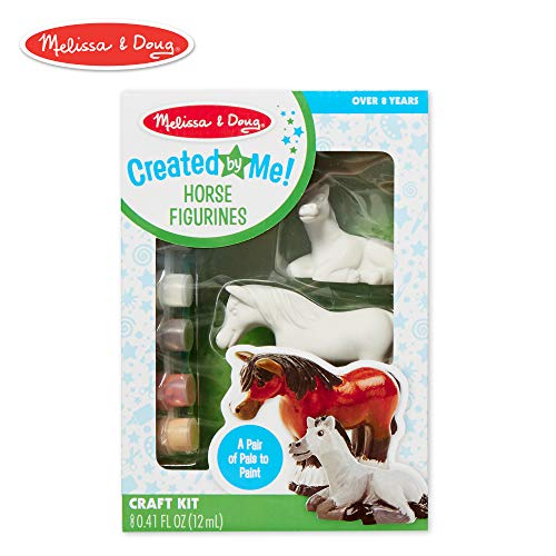 Melissa & Doug Decorate-Your-Own Horse Figurines Craft Kit (Includes 2 Resin Horses, 6 Pots of Paint, Paintbrush) (All Dogs Go To Heaven 3 Trailer)