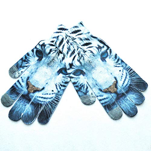 Back To Search Resultsapparel Accessories Fashion 3d Animal Wrist Gloves Print Winter Warm Touch Screen Gloves Women Female Full Finger Xmas Mitten Gift Accessories