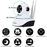 HD WiFi Security Camera - FAITH Wireless Camera 960P 1.3M IP Security Surveillance System Baby Monitor 2 Way Audio SD Card Slot Day/Night Vision for Android/iOS/iPhone/iPad/Tablet (2 antenna)