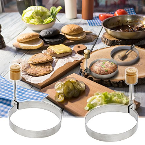 Egg Poacher Stainless Steel of - Perfect Pancakes Omelettes Eggs Like Master with Surgical Egg Round Perfect Life