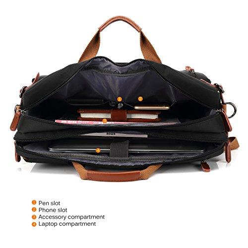 CoolBELL Convertible Backpack Messenger Bag Shoulder Bag Laptop Case Handbag Business Briefcase Multi-Functional Travel…