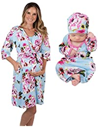 0edb5a214fb73 Mommy & Me Delivery Robe with Matching Baby Receiving Gown ...