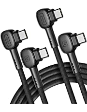 USB C Cable, INIU [2 Pack] 100W [6.6ft+6.6ft] Fast Charging USB C to USB C Cable, Nylon Braided Phone Charger Type C Date Cord for Samsung S20 S10 Note 10 iPad Pro MacBook Google Pixel LG Tablet etc.