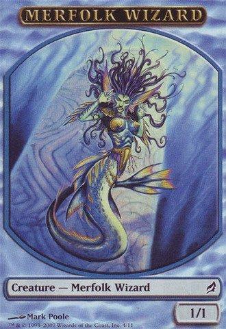 amazon com magic the gathering merfolk wizard token lorwyn