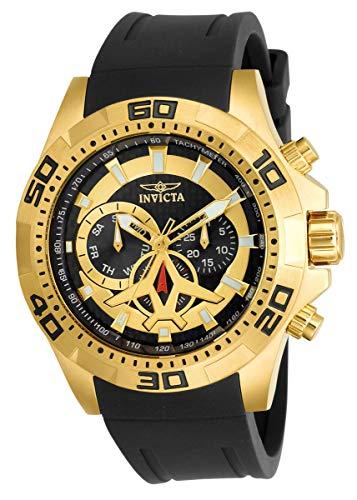 Invicta 21738 Mens Aviator Quartz Multifunction Black Dial Watch