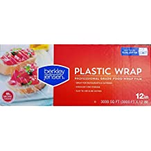 Berkley Jensen Professional Plastic Wrap with Cutter Slide 3000 Foot X 18 Inches Food Service Film