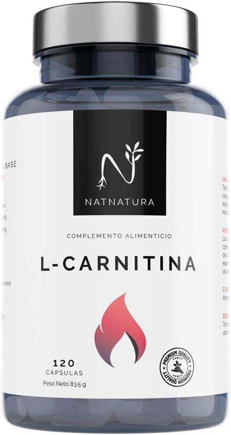 L-Carnitina.Complemento Alimenticio de L-Carnitina. Potente quemagrasas para adelgazar.Suplemento deportivo de alta concentración para mejorar el rendimiento, resistencia y recuperación.120 cápsulas.