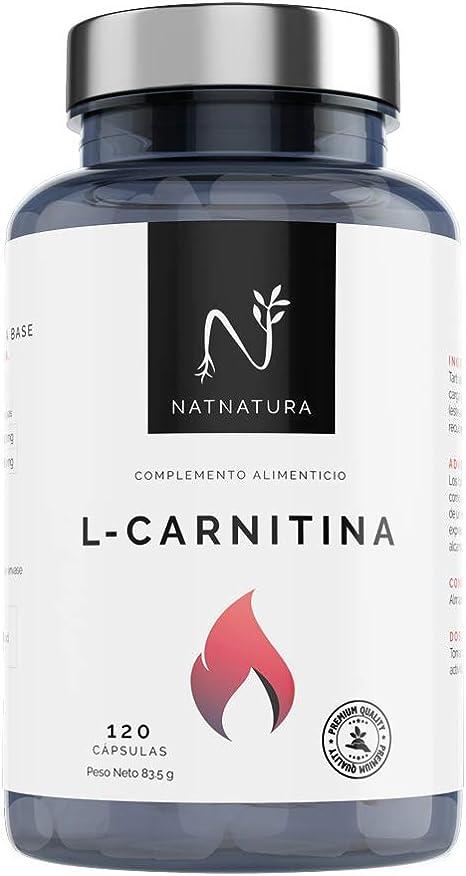 L-Carnitina.Complemento Alimenticio de L-Carnitina. Potente quemagrasas para adelgazar.Suplemento deportivo de alta concentración para mejorar el ...
