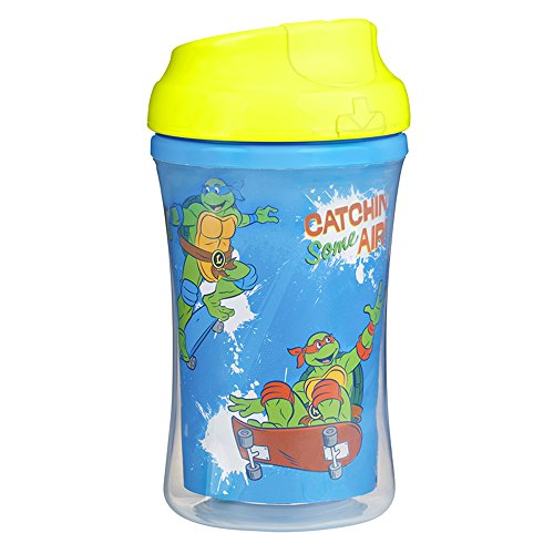 Gerber Graduates Nickelodeon Teenage Mutant Ninja Turtles Insulated Cup Like Rim Sippy Cup, 9-Ounce (Graduate Seals)