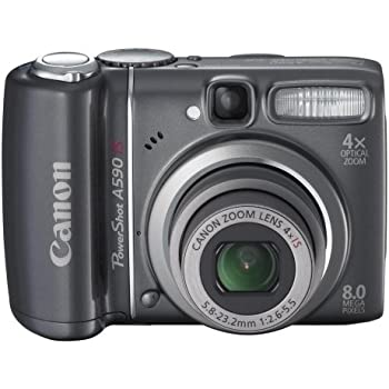 Canon PowerShot A590IS 8MP Digital Camera with 4x Optical Image Stabilized Zoom (OLD MODEL)
