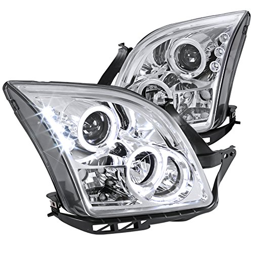 Spec-D Tuning LHP-FUS06-TM Ford Fusion Halo Chrome Clear Clear Projector Head Lights