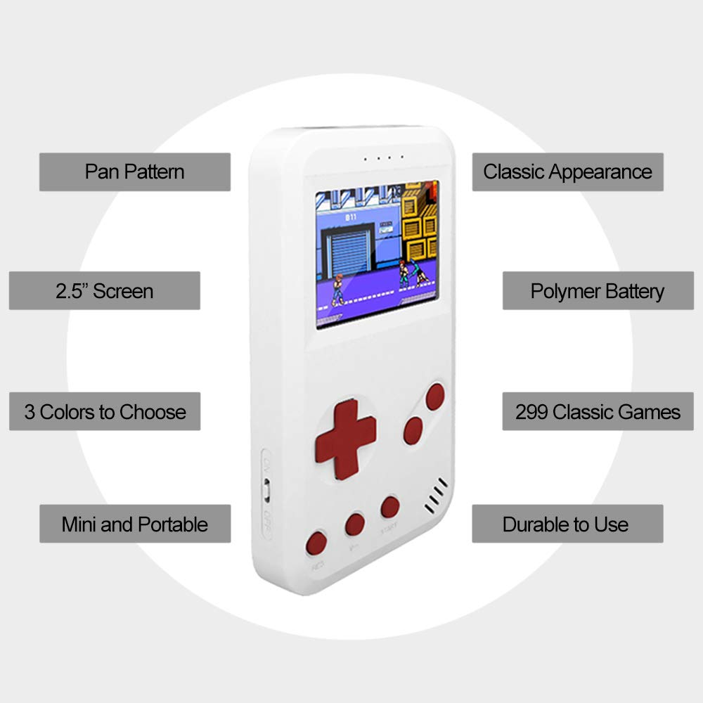 Leslaur JP01 Handheld Game Console Retro Gaming Machine Built-in 299 Classic Games AV Out with 2.5inch Screen Display by Leslaur (Image #5)