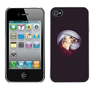 YiPhone /// Prima de resorte delgada de la cubierta del caso de Shell Armor - Greyhound Mutt Mongrel Art Dog - Apple iPhone 4 / 4S