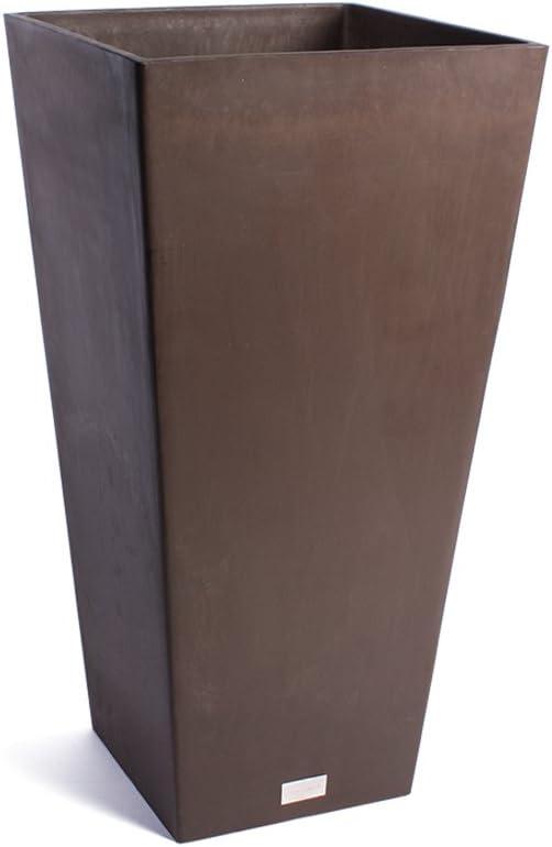 Veradek Midland Tall Square Planter, 32-Inch Height by 16-Inch Width, Espresso MV32E