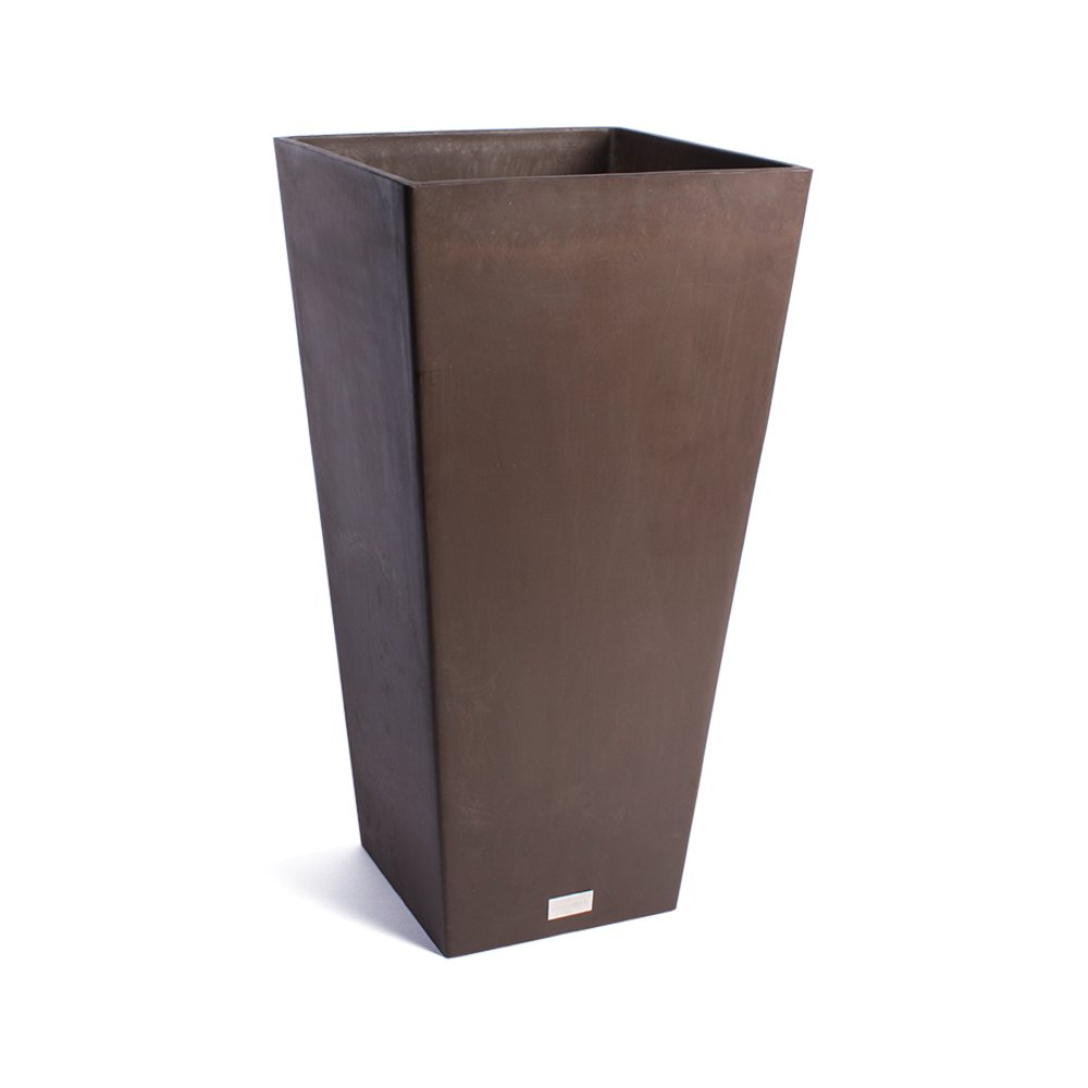 Veradek Midland Tall Square Planter, 32-Inch Height by 16-Inch Width, Espresso (MV32E) by Veradek