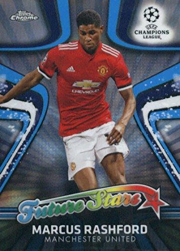 2018 Topps Chrome UEFA Champions League Future Stars #FS-MR Marcus Rashford Manchester United Soccer Card