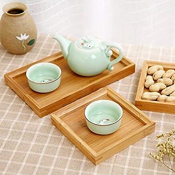 HONIC Bandeja sólido Conjunto de té de Madera alimento de la ...