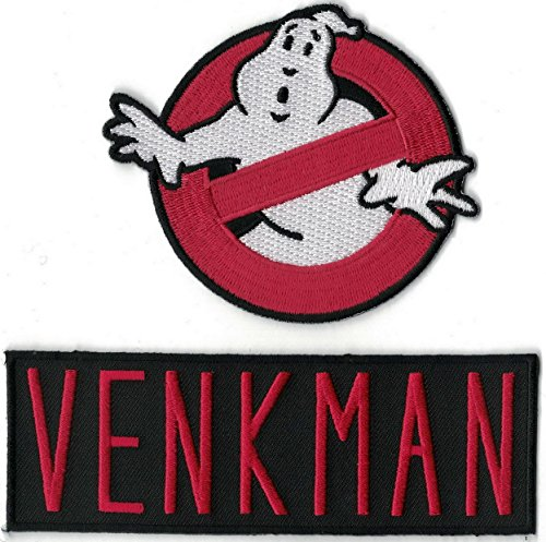 GHOSTBUSTERS Logo & VENKMAN Name Set of 2 Embroidered PATCHES ()