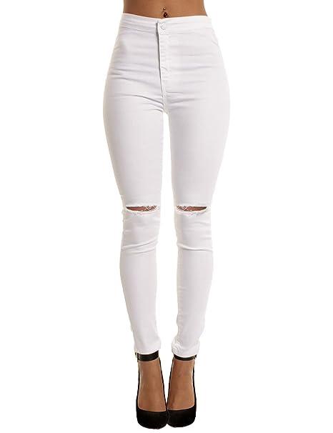 Alta Yidarton Cintura Jeans Pantalones De Flacos Mujer Vaqueros fxXrBfS