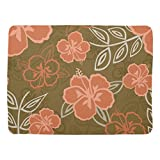 Zazzle Peach and Brown Hawaiian Hibiscus Pattern Baby Blanket