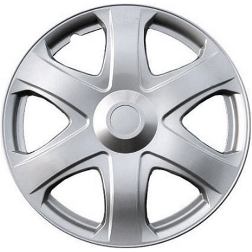 Hubcap for Toyota Matrix (Single Piece) Wheel Cover - 16 Inch Silver Replacement