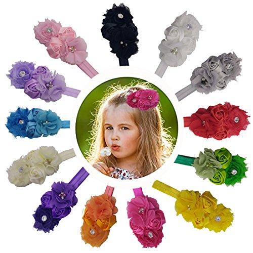 Steen Baby Headbands Polygon Flower with Crystal Flower Girls Hair Accessories Girls' Shower