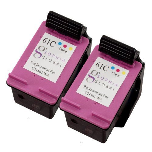 Sophia Global Remanufactured Ink Cartridge Replacement for HP 61 (2 Color), Office Central