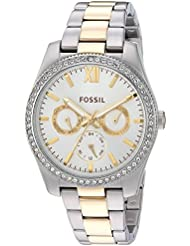 Fossil Womens Scarlette Quartz Stainless Steel Casual Watch, Color Silver-Toned (Model: ES4316)