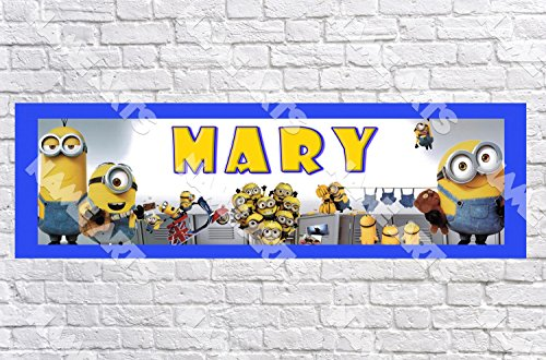 Personalized / Customized Minions Movie #2 Name Poster