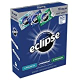 ECLIPSE Gum Sugarfree Chewing Gum Three Flavor Variety Pack, 18-Count Box
