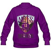 TIKE Women's Brooklyn Nets City Height Hood Sweater Color Purple Size XXL