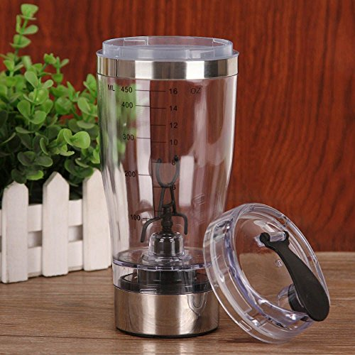 Electric Shaker Blender Water Bottle Automatic Vortex 450ml Detachable Mixer Cup by Mmrm (Image #8)'