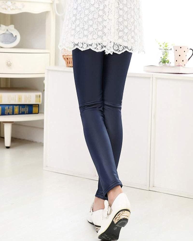 Quge Leggings Fille Skinny Pantalon Imitation Cuir Stretchy Collants pour  Enfants  Amazon.fr  Vêtements et accessoires 924501ac2a26