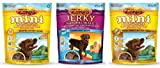 Zuke's Naturals Healthy Dog Treats 3 Flavor Variety Bundle: (1) Zuke's Mini Naturals Healthy Moist Roasted Chicken Recipe, (1) Zuke's Naturals Healthy Grain-Free Tender Beef Jerky Bites, and (1) Zuke's Mini Naturals Healthy Moist Peanut Butter Formula, 6