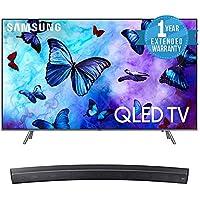 Samsung QN82Q6 Flat 82 QLED 4K UHD 6 Series Smart TV 2018 Bundle with Samsung Sound+ Premium Curved Soundbar (HW-MS6500/ZA) + 1 Year Extended Warranty