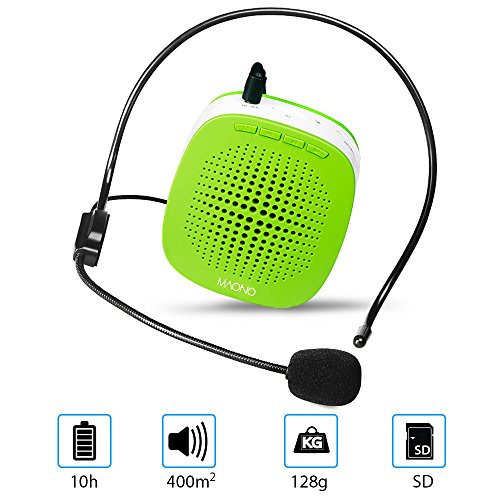 XB-600 Voice Amplifier,Mini Rechargeable PA system with multifunction, Supports MP3 Format Audio and SD Card good for Teaching, Speech, Conference, Church, Promotion, Business and more(Green) by XIBO