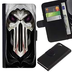 UNIQCASE - Apple Iphone 6 4.7 - cool Goth skull mask scary blood hood - Cuero PU Delgado caso cubierta Shell Armor Funda Case Cover